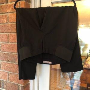 Black maternity crop pants